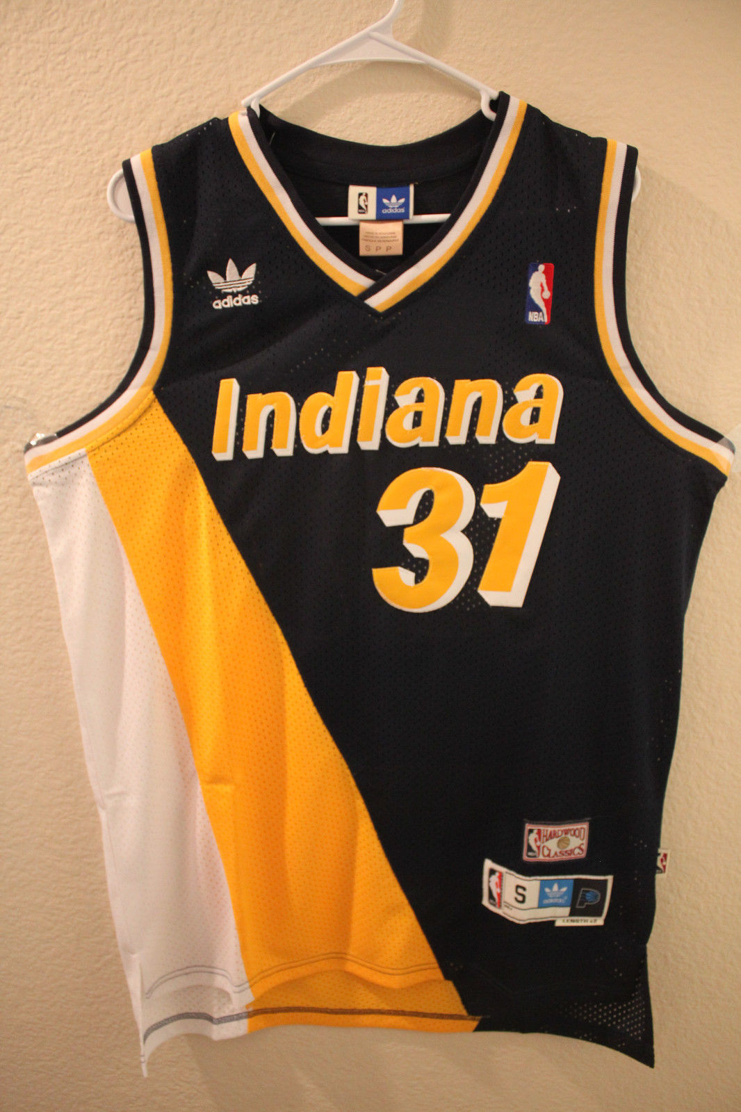 outlet store ee573 22386 Indiana Pacers Reggie Miller Cheap Retro Throwback Jersey ...